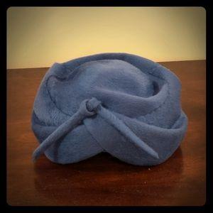 Vintage Adolfo 1960s Royal Blue Hat